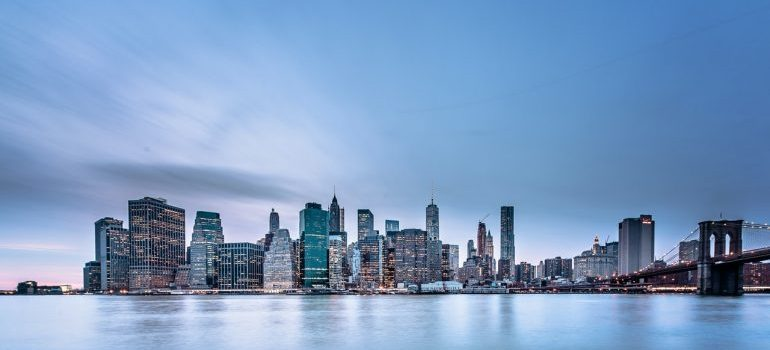 A waterfront view of Manhattan, NYC.