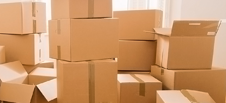a pile of boxes